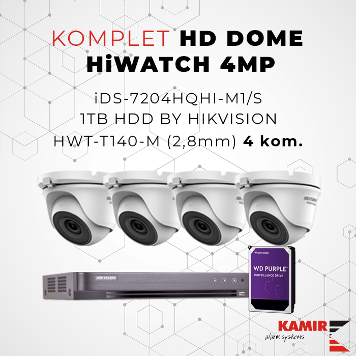 Picture of KOMPLET HD DOME HiWATCH 4MP