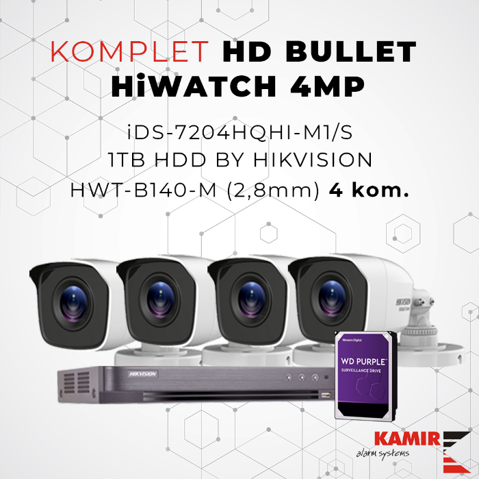 Picture of KOMPLET HD BULLET HiWATCH 4MP