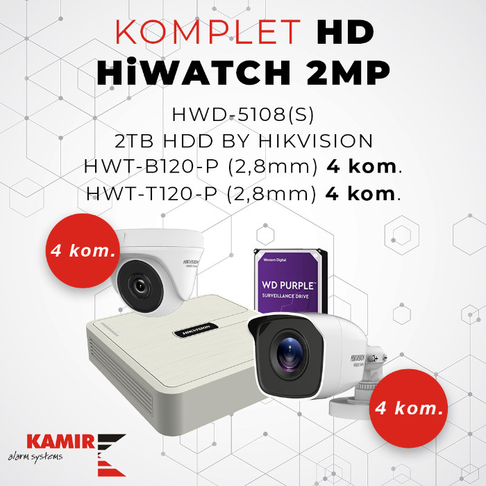 Picture of KOMPLET HD HiWATCH 2MP_8ch