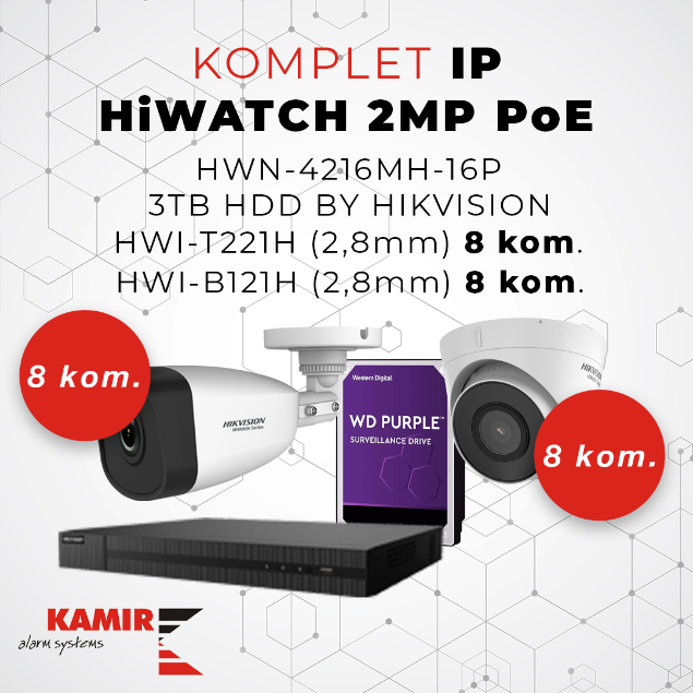 Picture of KOMPLET IP HiWATCH 2MP_16chPoE